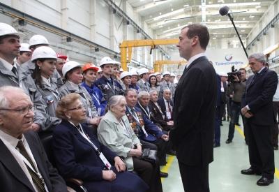 Встреча с премьер-министром Д.А. Медведевым. Открытие завода ТНН. Апрель 2016