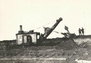 Экскаватор Марион на планировке 1934 г Рытье котлованов под цеха