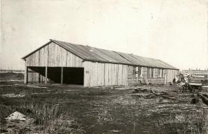 Строительство арматурно-бетонного цеха 1932 год