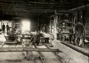 Лесопильный цех 1932 год