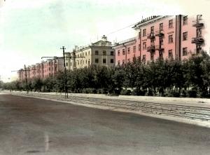 Первые дома станкостроителей Жилищное строительство после войны ул. Строителей (Гагарина)